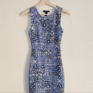 FOREVER21 TRIBAL VINTAGE FITTED DRESS (0831)